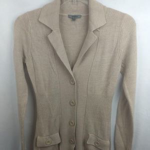 Womens Premise Button Front Cardigan Sweater Coat